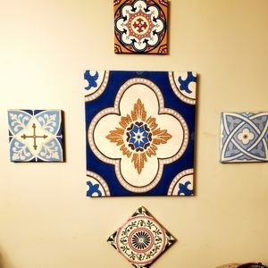 Canvas Art Set with Moroccan Theme